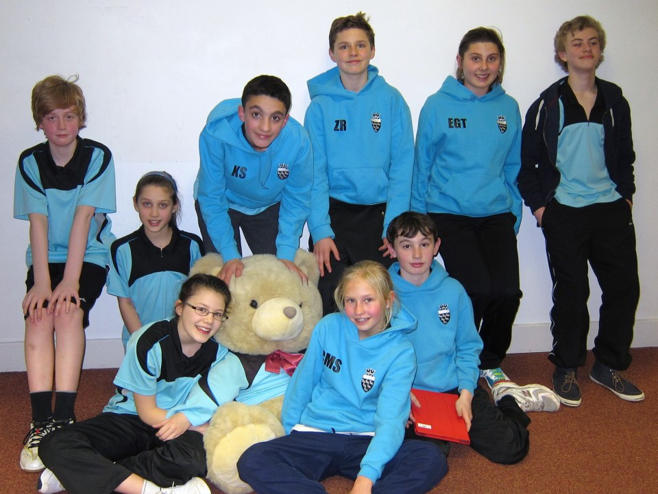 The Sussex U13 Team Challenge Finals Team