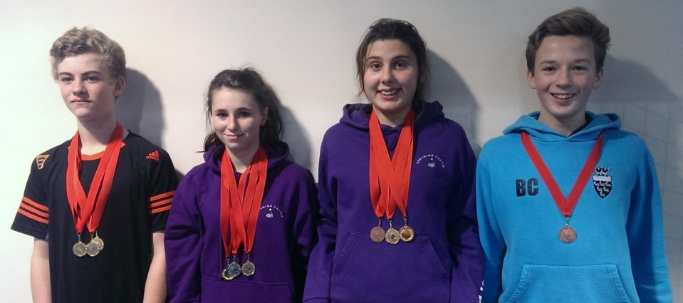 1311 U15B Surrey Jude Blackman and Vicky Roberts Mixed Gold Elysia Taylor Ben Chambers Mixed Bronze