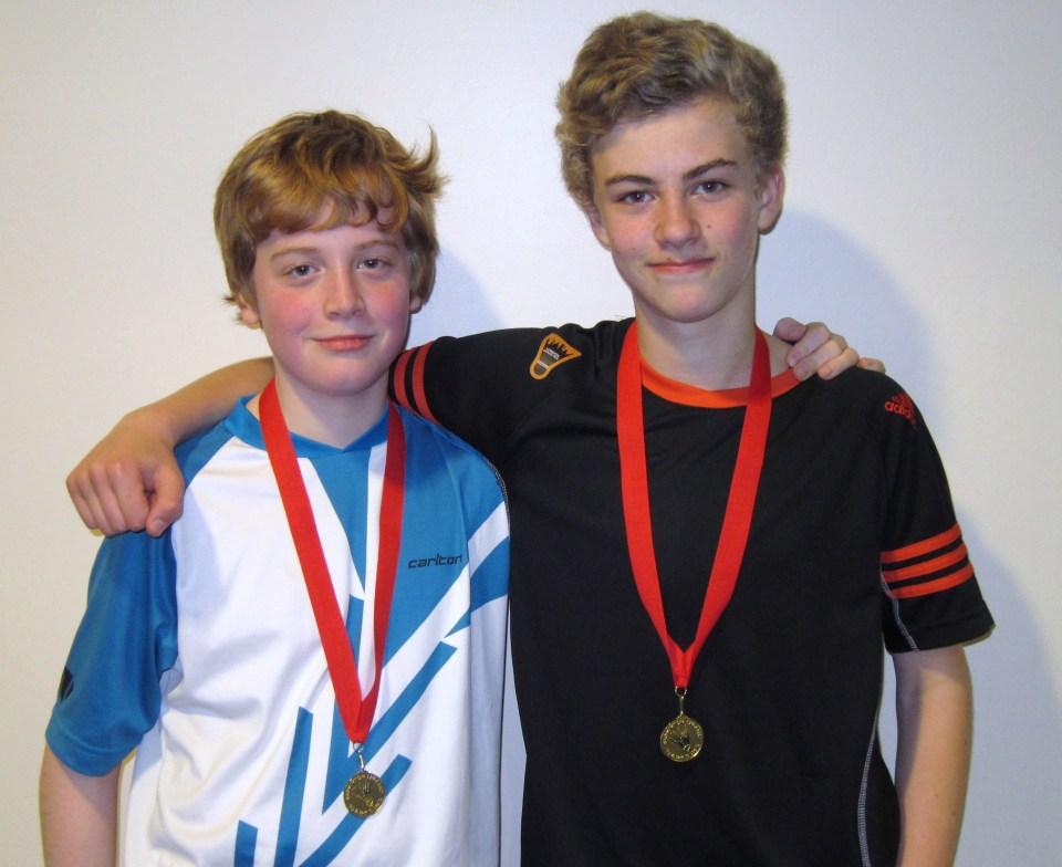 1311 U15B Surrey Owen West-Bourne and Jude Blackman Doubles Gold