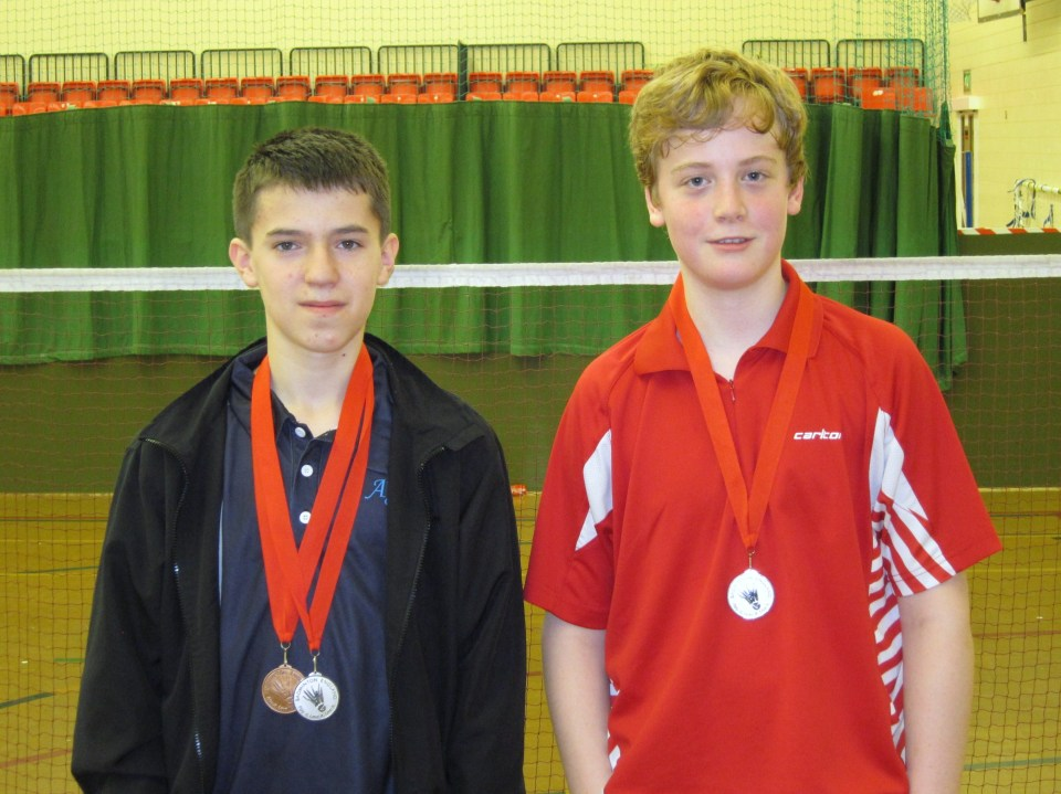 1410 U15S Berkshire Harry Morgan Singles Bronze and Doubles Silver Owen West-Bourne Doubles Silver