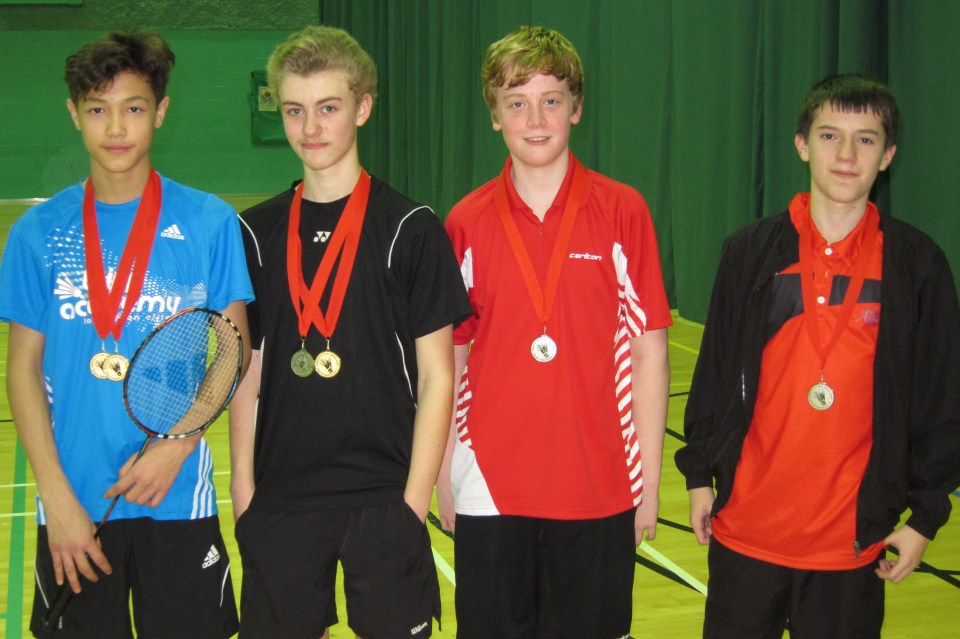 1412 U15S Kent Jude Blackman Singles Silver Doubles Gold Owen West-Bourne Harry Morgan Doubles Silver