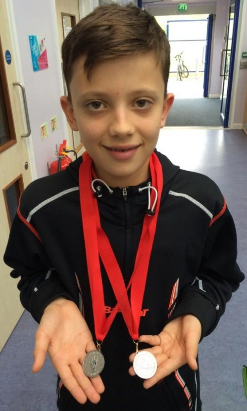 1410 U13B Cornwall Xander Tosney Singles Silver and Doubles Silver
