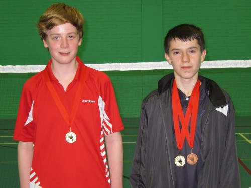 1503 U15S Hertfordshire Owen West-Bourne Doubles Gold Harry Morgan Doubles Gold and Singles Bronze