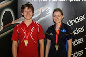 1503 U17 Nationals Mixed Doubles Gold