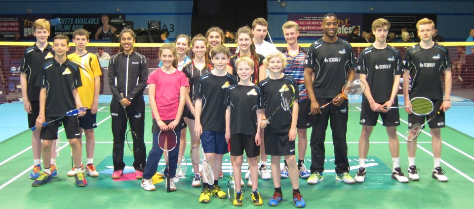 1504 Horsham PC Players Warm Up With Surrey Smashers at NBL Match