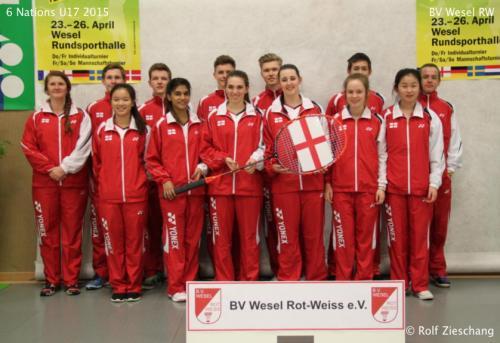 1504 U17 6 Nations Jonty Russ and Zach Russ England Team Bronze