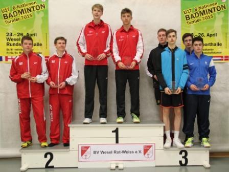 1504 U17 6 Nations Jonty Russ Individual Doubles Silver
