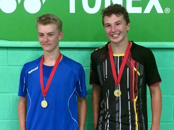 1508 U17S Milton Keynes Summer Jude Blackman and Andrew Brownlie Doubles Gold